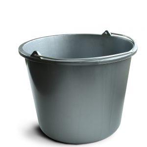 Emmer grijs kunststof 12 liter