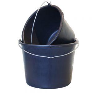 Emmer zwart kunststof 20 liter