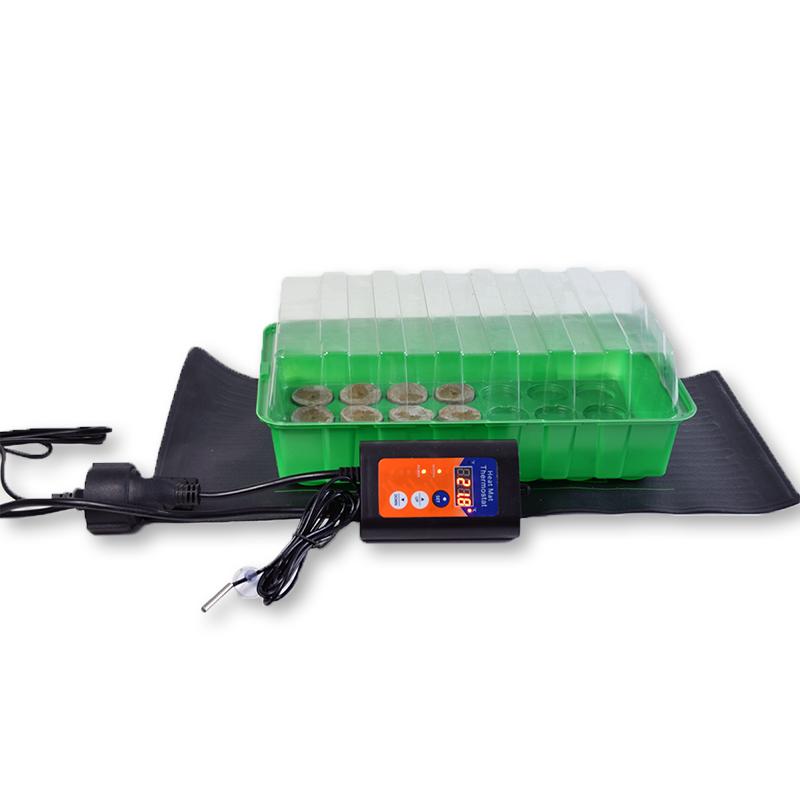 Propagator op heat mat met thermostaat